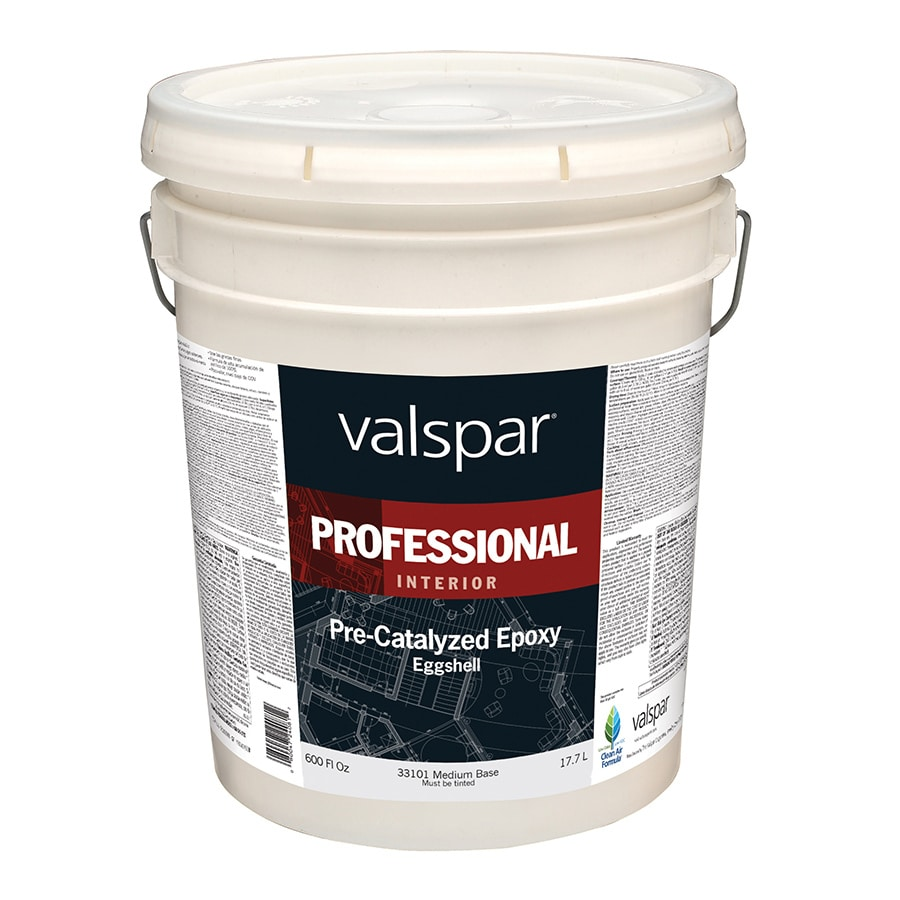Valspar Pre-Catalyzed Epoxy Medium Base Eggshell Latex Interior Paint (Actual Net Contents: 600-fl oz)