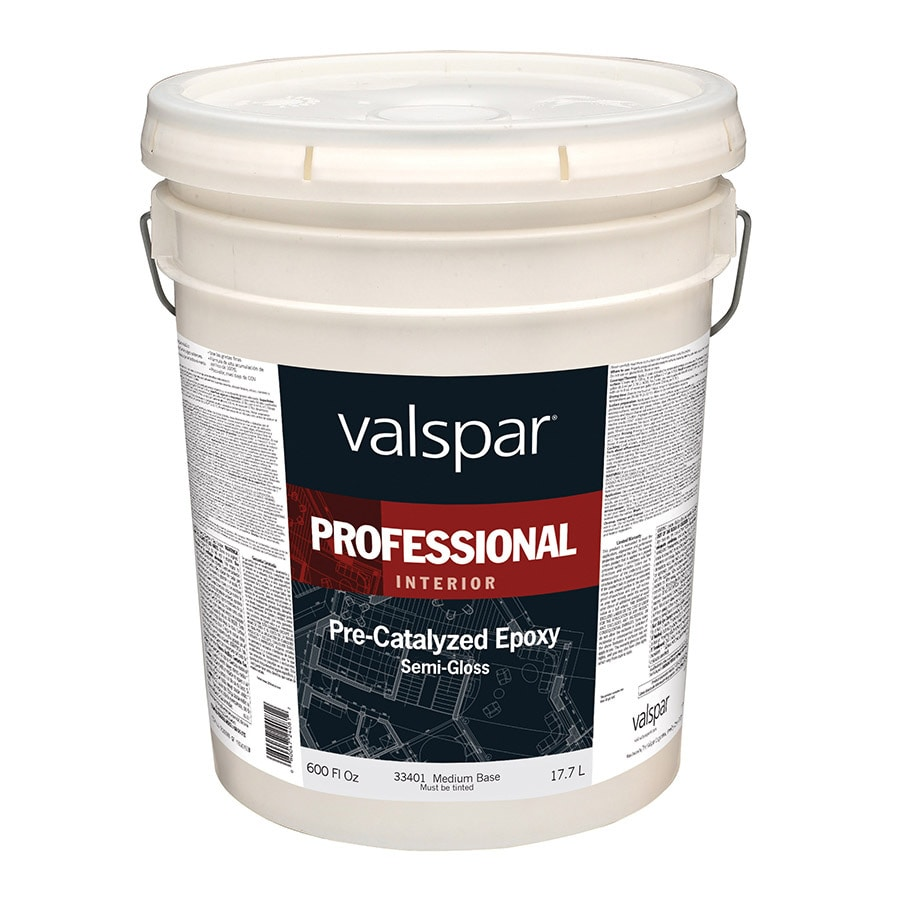 Valspar Pre-Catalyzed Epoxy Medium Base Semi-gloss Latex Interior Paint (Actual Net Contents: 600-fl oz)