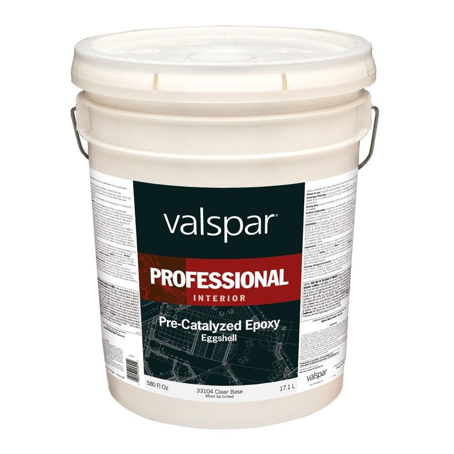 Clear Epoxy Paint : Shop valspar pre catalyzed epoxy clear base eggshell latex