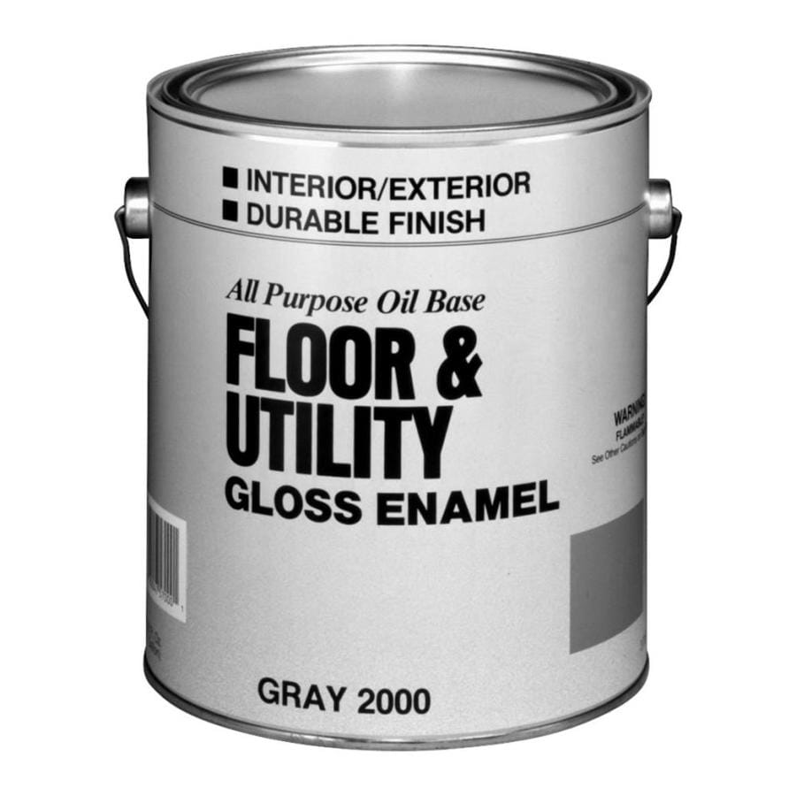 Shop valspar utility gray gloss interior exterior porch and floor paint actual net contents Oil based exterior paint brands