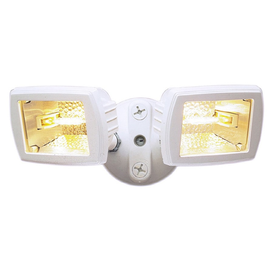 Utilitech 5.5-in 2-Head Halogen White Switch-Controlled Flood Light