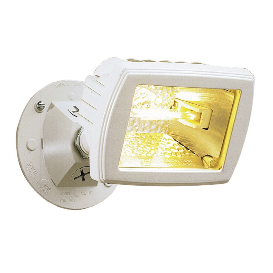 Utilitech 3.75-in 1-Head Halogen White Switch-Controlled Flood Light