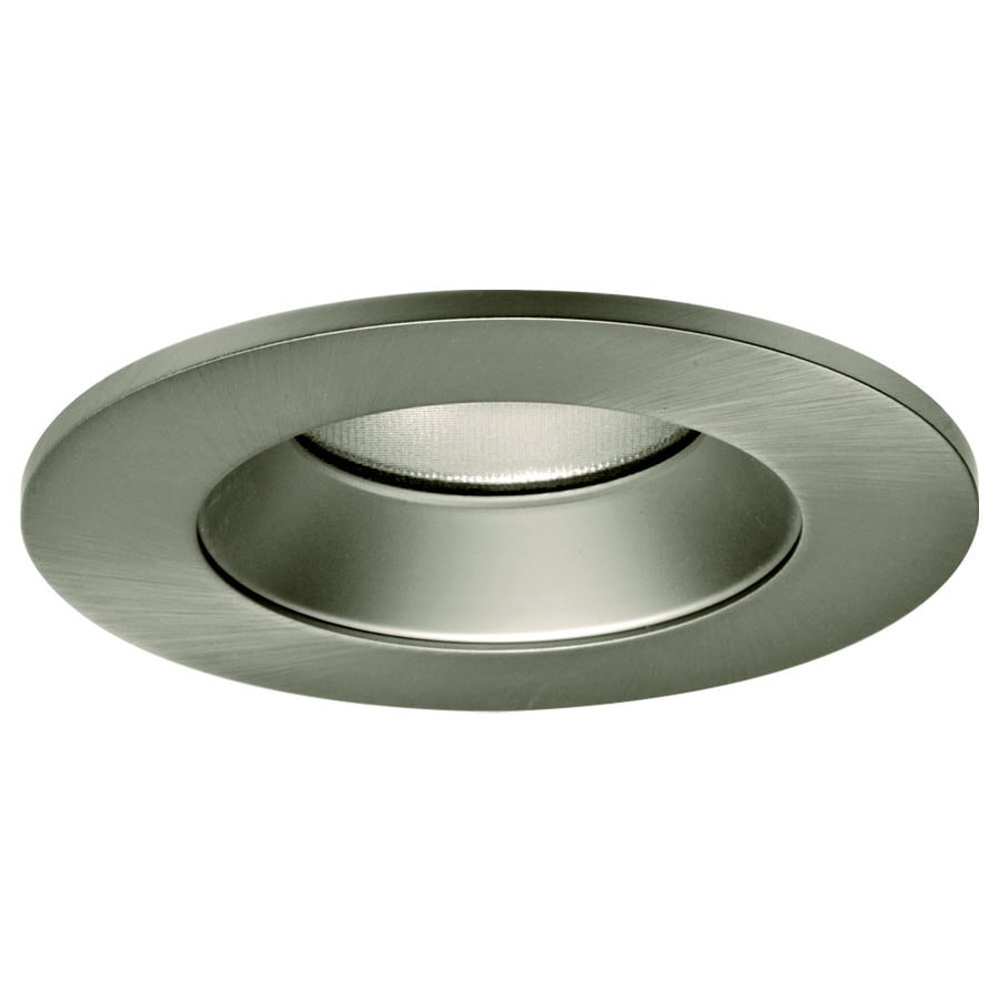 Shop Cooper Lighting LED Trim 4-in Satin Nickel Baffle Recessed ...