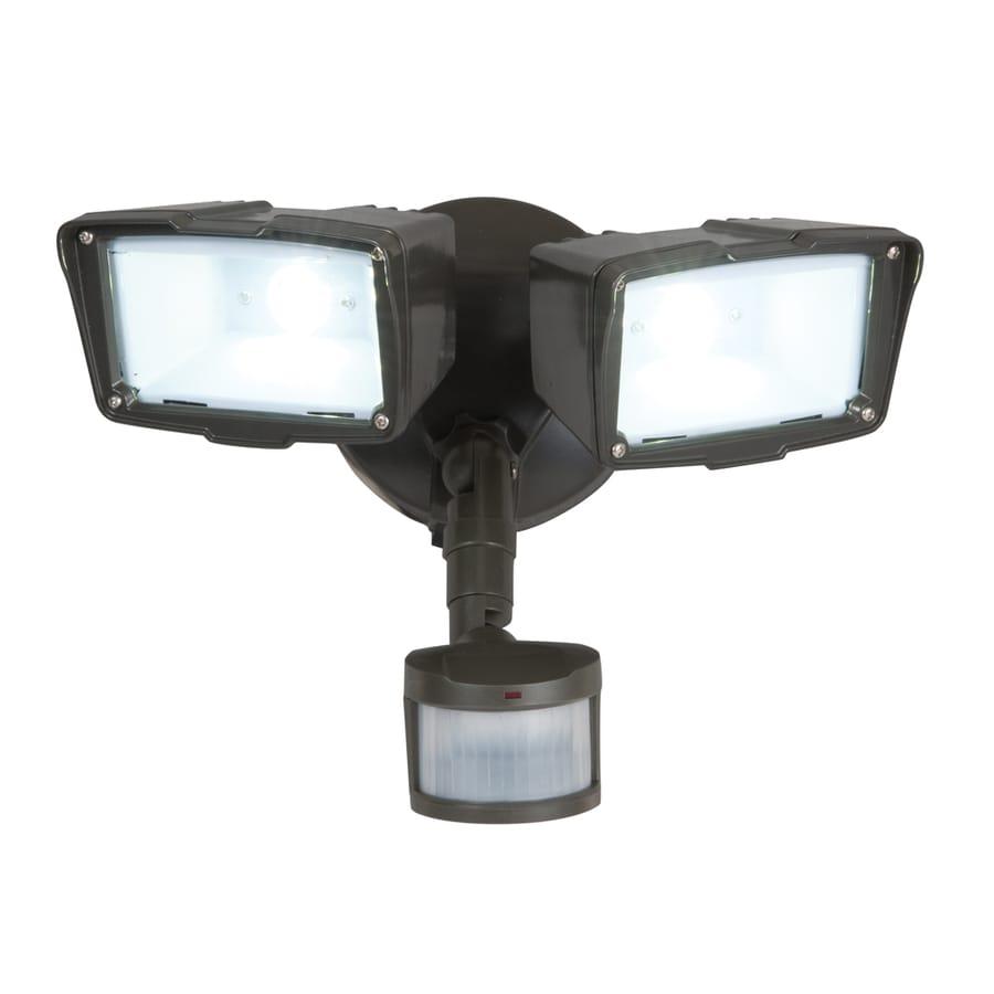 Utilitech Pro 180-Degree 2-Head LED Motion-Activated Flood Light