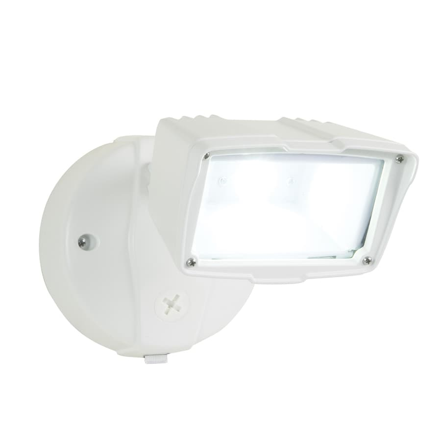 Utilitech Pro 1-Head 23-Watt White LED Dusk-To-Dawn Flood Light