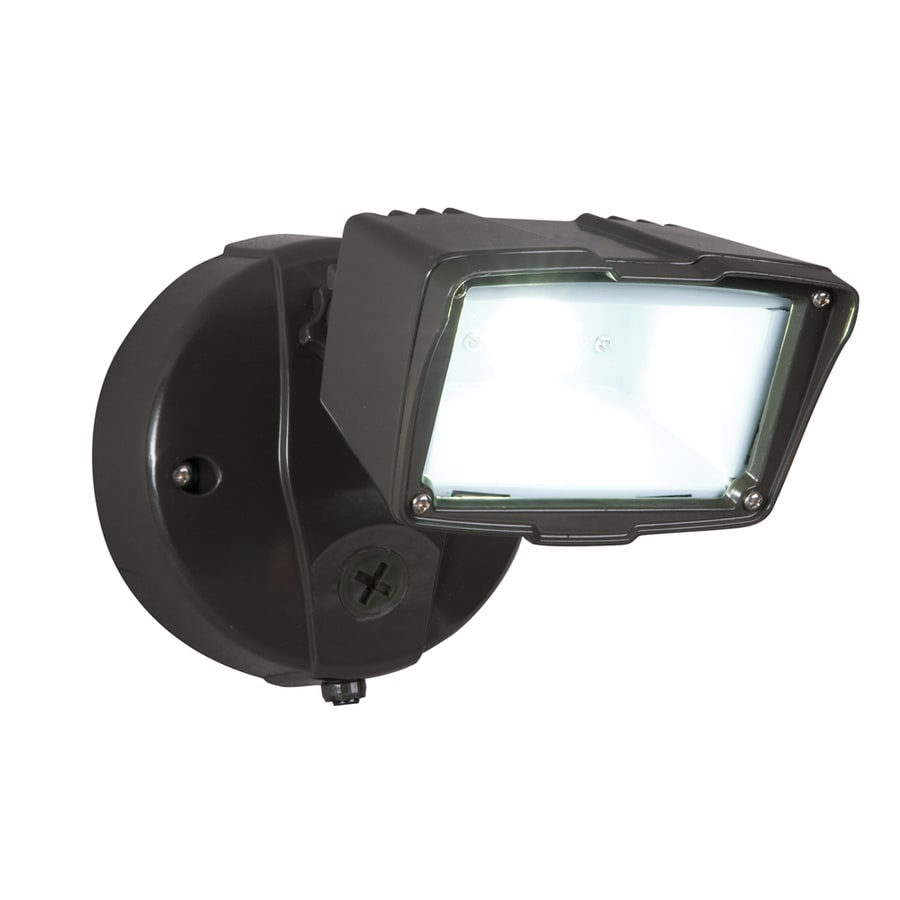 Utilitech Pro 1-Head 23-Watt Bronze LED Dusk-To-Dawn Flood Light