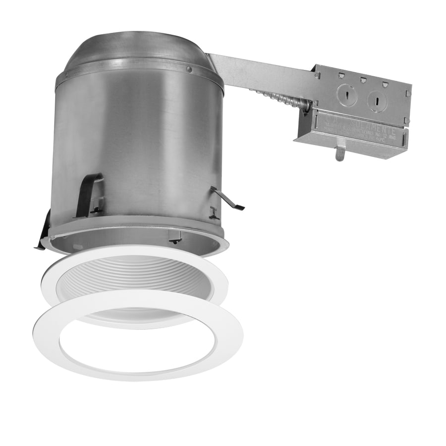 Quantus Recessed Lighting Kit : Halo white remodel recessed light kit fits opening