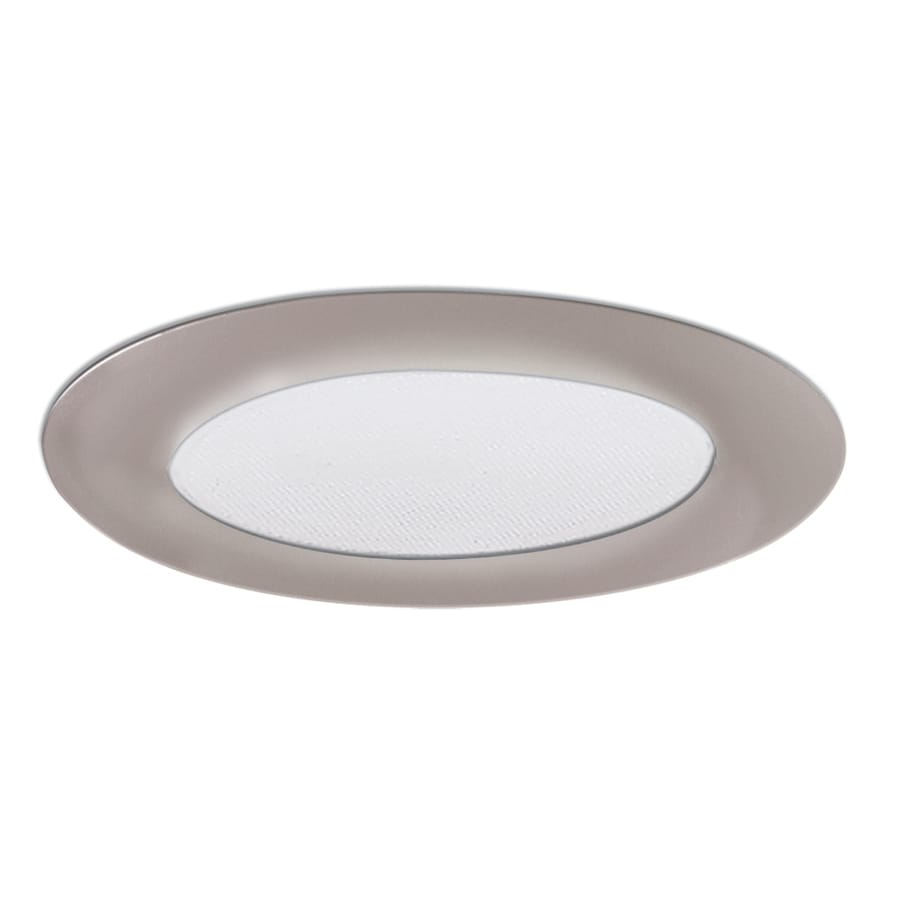 shop halo nickel shower recessed light trim fits housing diameter