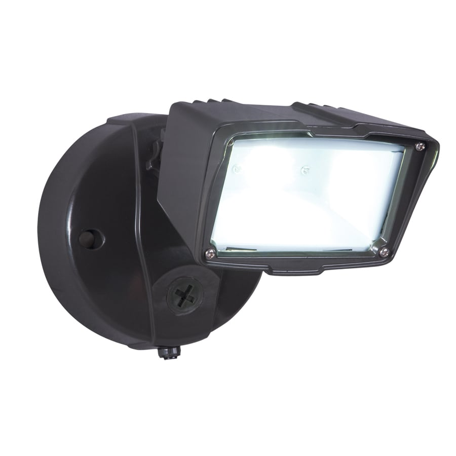shop all pro 1 head bronze led dusk to dawn flood light at lowes com