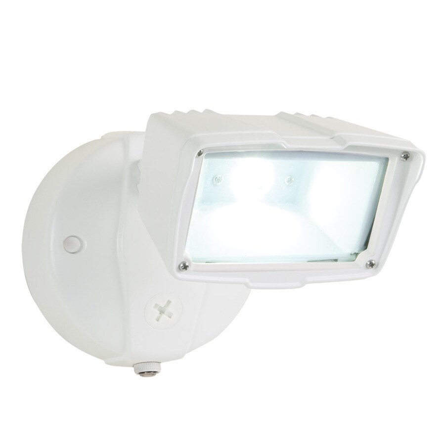 All-Pro 1-Head White LED Dusk-to-Dawn Flood Light At Lowes.com