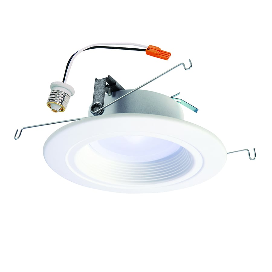 Shop recessed downlights at lowes halo 65 watt equivalent white dimmable led recessed retrofit downlight fits housing diameter aloadofball Choice Image