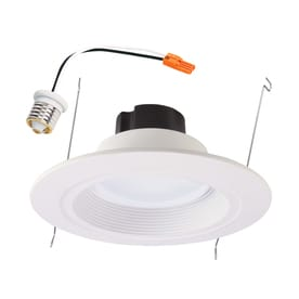 Shop recessed downlights at lowes halo 65 watt equivalent white dimmable led recessed retrofit downlight fits housing diameter aloadofball Images