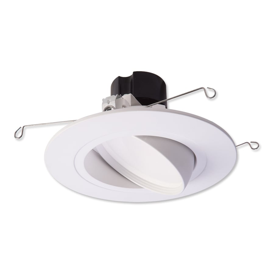 shop halo 65 watt equivalent white dimmable led recessed retrofit