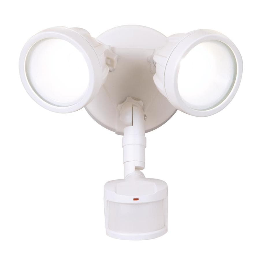 Shop all pro 180 degree 2 head white integrated led motion activated all pro 180 degree 2 head white integrated led motion activated flood aloadofball