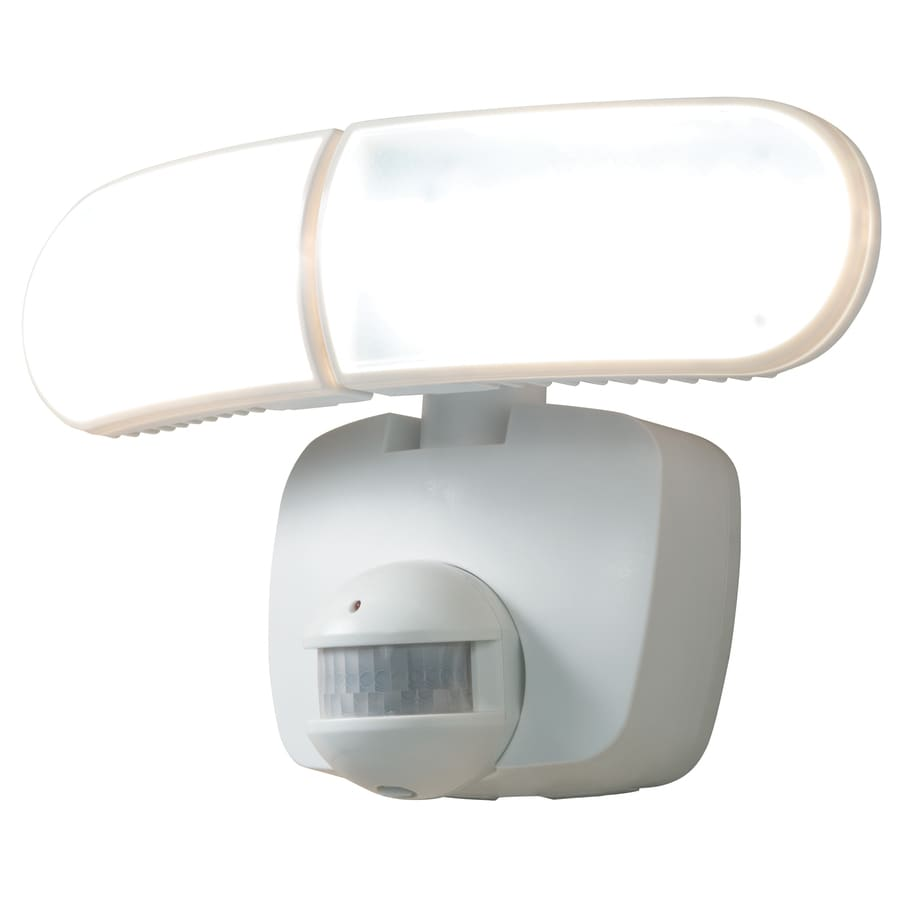 allpro 180degree 2head white solar powered integrated led motion