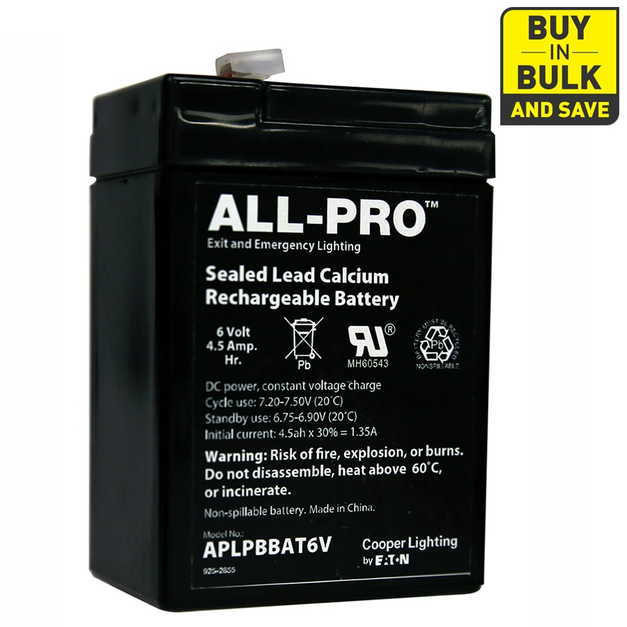 All-Pro Sealed Lead Calcium (SLC) Emergency Lighting Battery Pack  sc 1 st  Loweu0027s & Shop All-Pro Sealed Lead Calcium (SLC) Emergency Lighting Battery ...