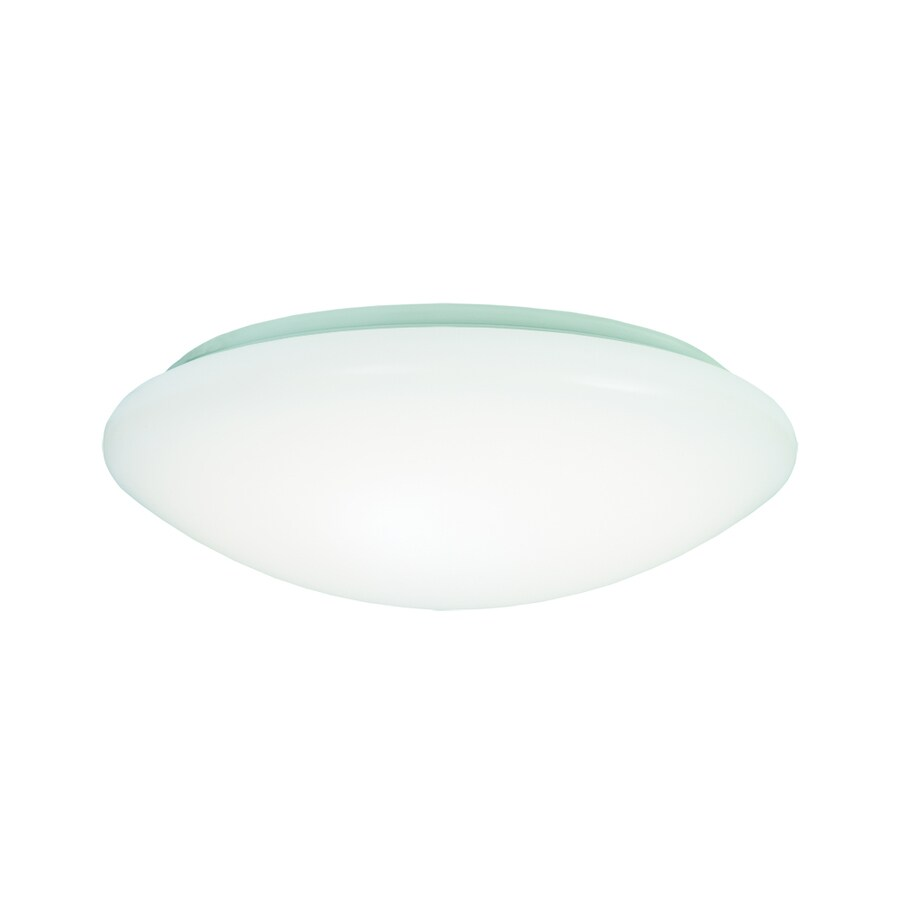 Metalux FMLED 8-in W White LED Ceiling Flush Mount Light