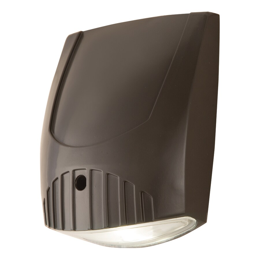 All-Pro Led Wall Pack 7.25-in 1-Head Integrated LED Bronze Switch-Controlled Flood Light
