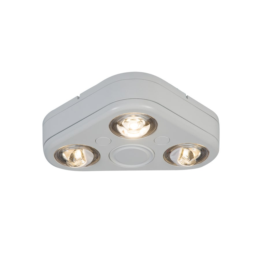 All-Pro Revolve 7.8-in 3-Head Integrated LED White Switch-Controlled Flood Light