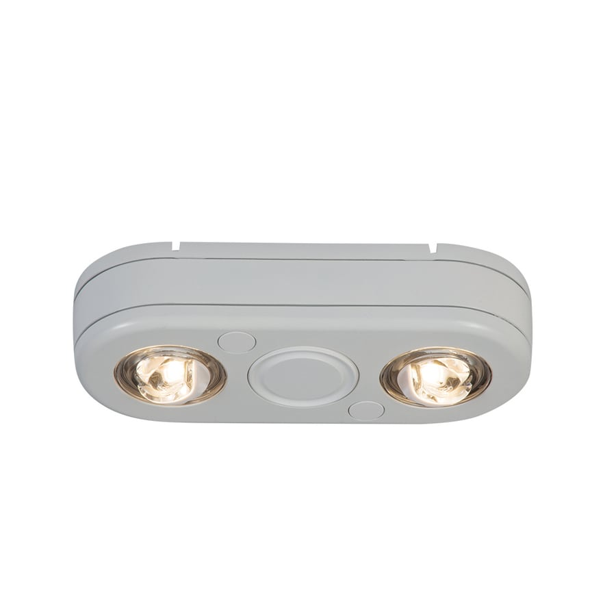 Shop All-Pro Revolve 5.1-in 2-Head Integrated LED White Switch ...
