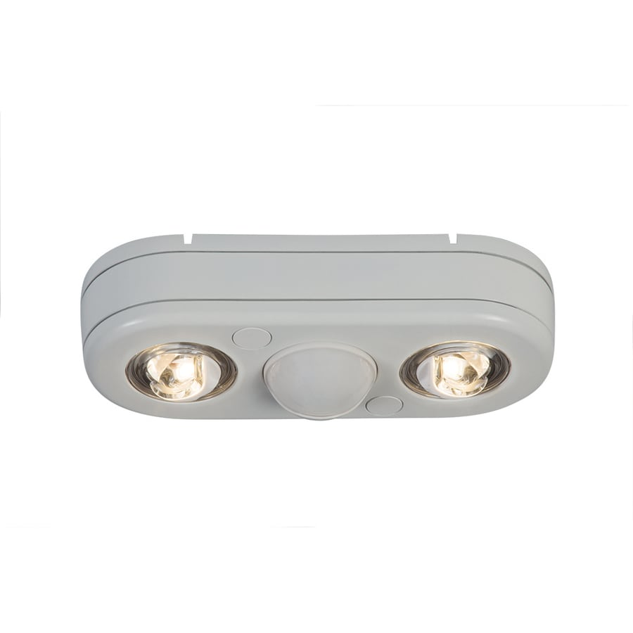 All-Pro Revolve 180-Degree 2-Head White Integrated LED Motion-Activated Flood Light