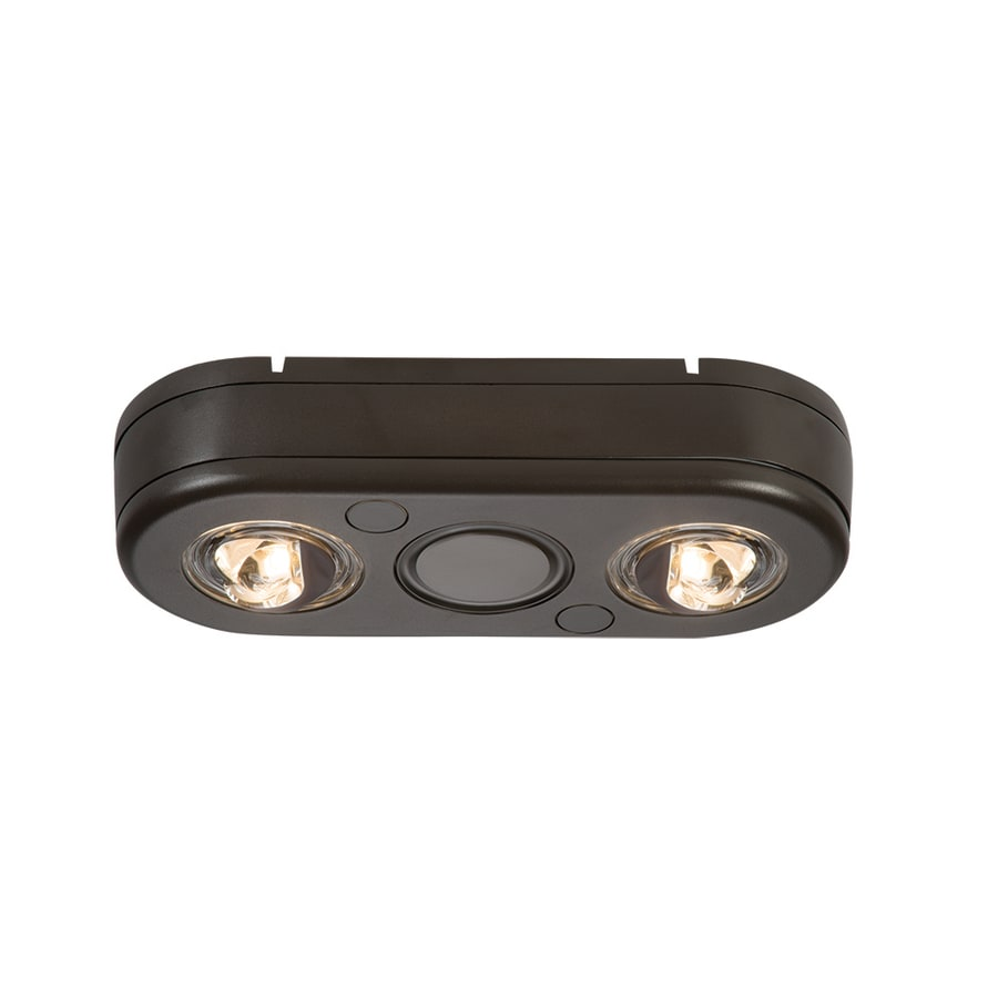 in 2 head led bronze switch controlled flood light at. Black Bedroom Furniture Sets. Home Design Ideas