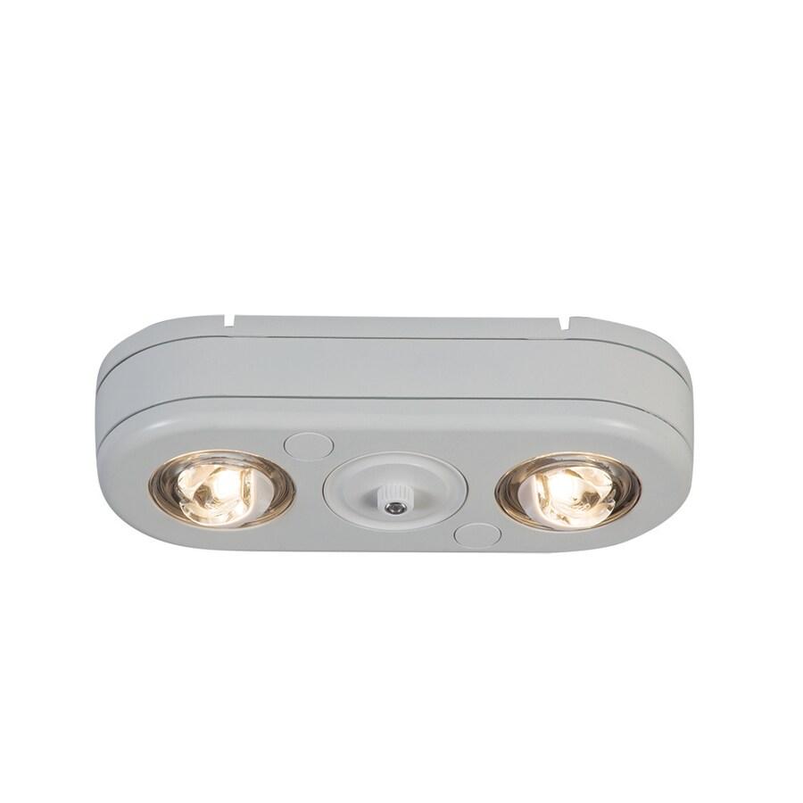 All-Pro Revolve 2-Head 26.7-Watt White LED Dusk-To-Dawn Flood Light