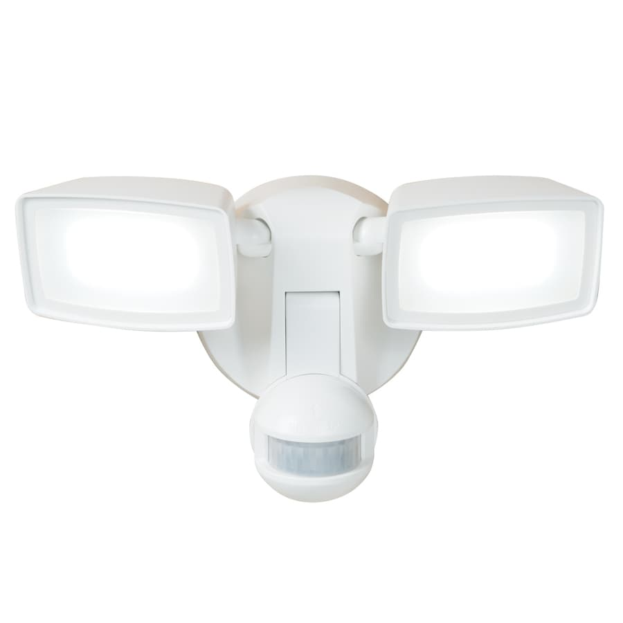 All Pro 180 Degree 2 Head White Integrated LED Motion Activated FloodShop All Pro 180 Degree 2 Head White Integrated LED Motion  . Exterior Motion Detector Led Lights. Home Design Ideas