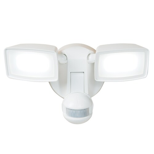 180 Degree 2 Head White Led Motion Activated Flood Light With Timer