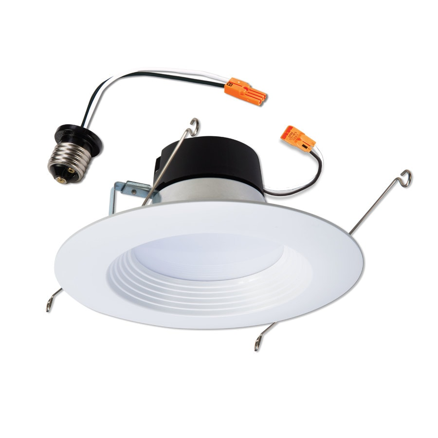 Lowes recessed lighting recessed light trim and more halo lt 65 watt equivalent white dimmable led recessed retrofit downlight fits housing diameter aloadofball Image collections