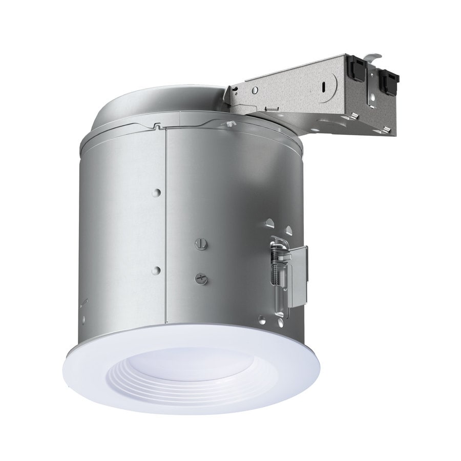 Shop recessed light kits at lowes halo lt white led remodel recessed light kit fits opening 6 in aloadofball