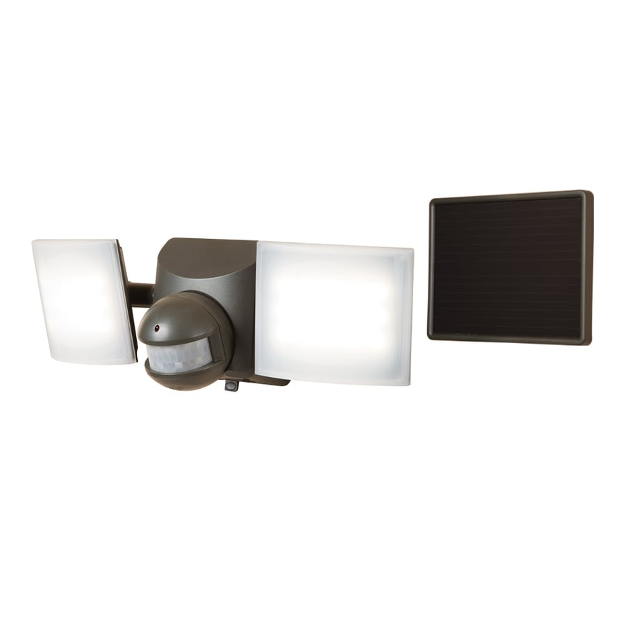 Build A Solar Powered Outdoor Floodlight Dti All Pro 180 Degree 2 Head Bronze Led Motion Activated Flood