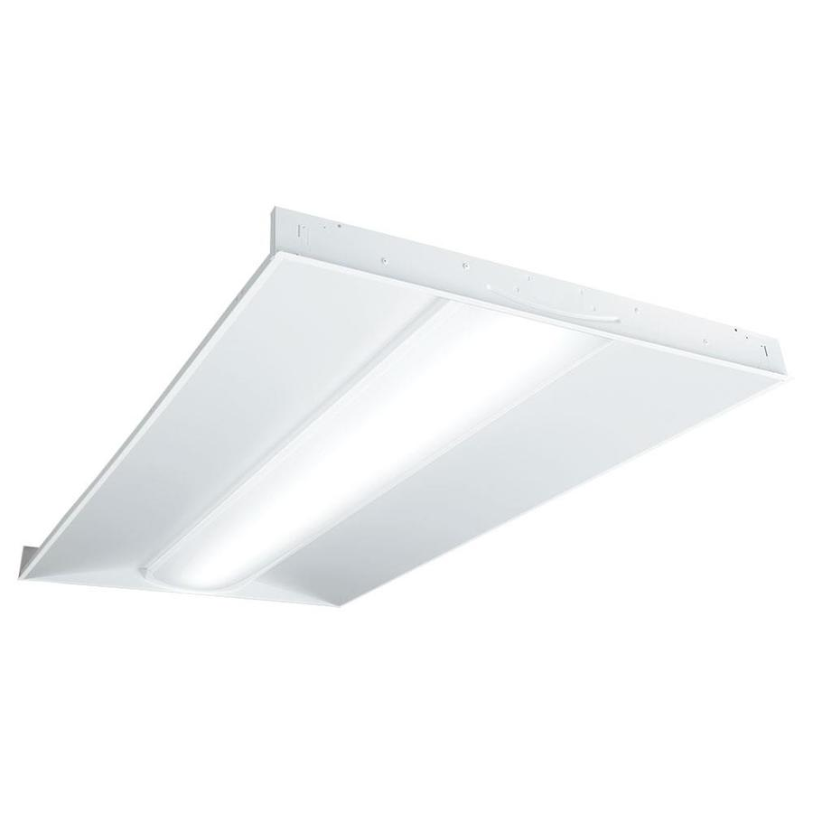 Shop work shop lights at lowes metalux architectural troffer shop light common 4 ft actual 2375 arubaitofo Choice Image