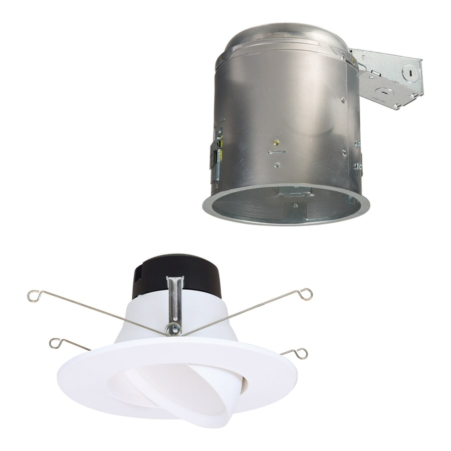 Halo 6 In Led Remodel White Airtight Ic Gimbal Recessed Light Kit In The Recessed Light Kits Department At Lowes Com