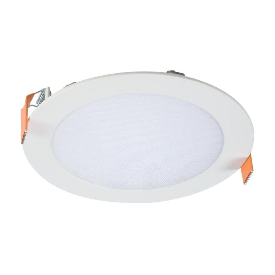 Halo 6 In 75 Watt Equivalent Led White Round Canless Dimmable Retrofit Recessed Downlight In The Recessed Downlights Department At Lowes Com