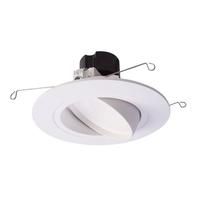 halo 6 in white gimbal recessed light trim