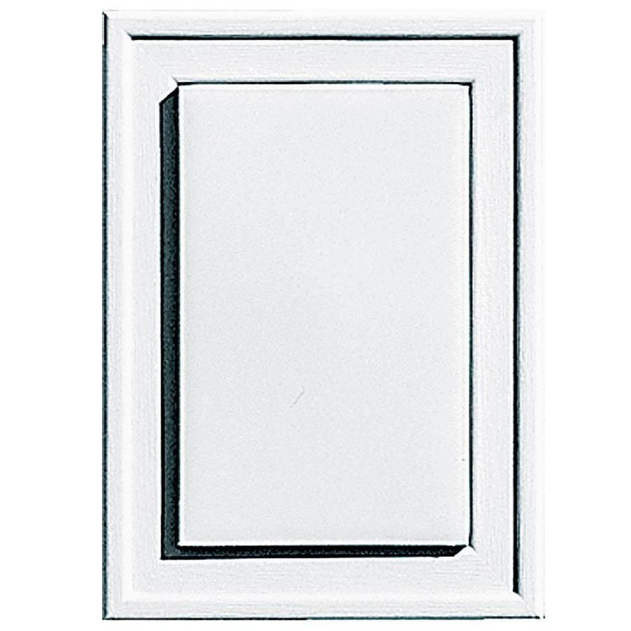 Builders Edge 4.5-in x 6.25-in White Vinyl Universal Mounting Block