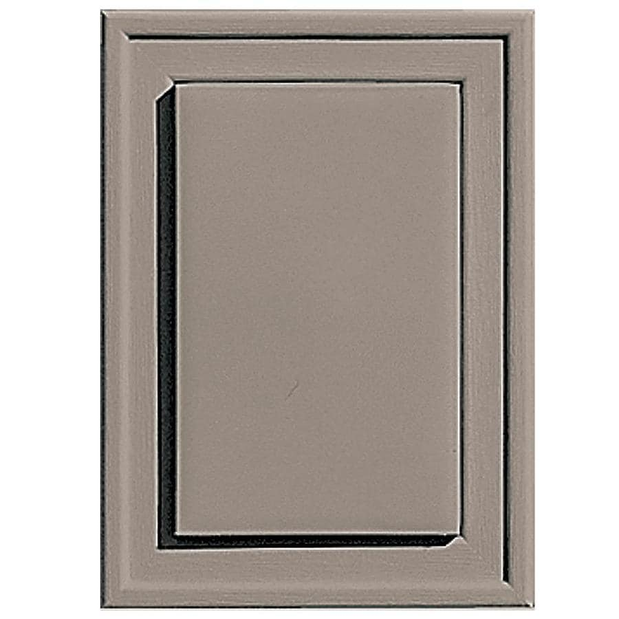 Builders Edge 4.5-in x 6.25-in Clay Vinyl Universal Mounting Block