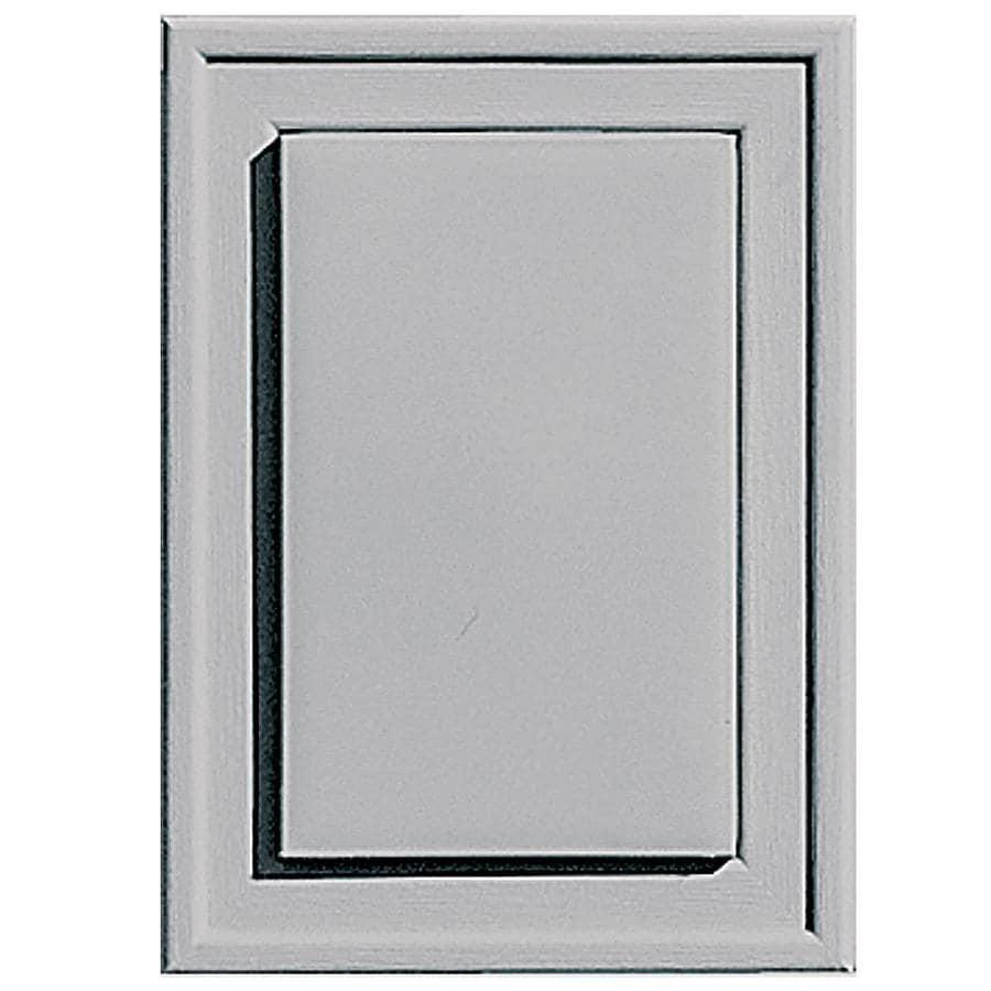 Builders Edge 4.5-in x 6.25-in Gray Vinyl Universal Mounting Block