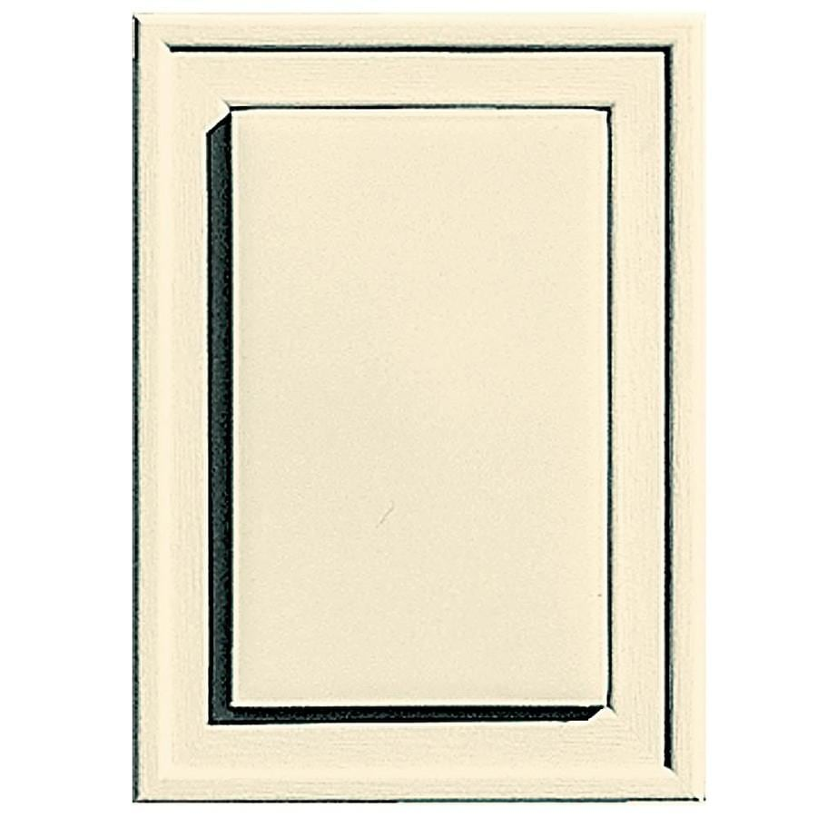 Builders Edge 4.5-in x 6.25-in Heritage Cream Vinyl Universal Mounting Block