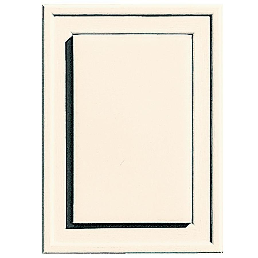 Builders Edge 4.5-in x 6.25-in Sandstone Beige Vinyl Universal Mounting Block