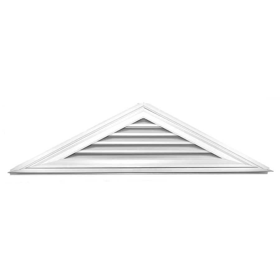 Builders Edge 8-in x 8-in White Triangle Vinyl Gable Vent