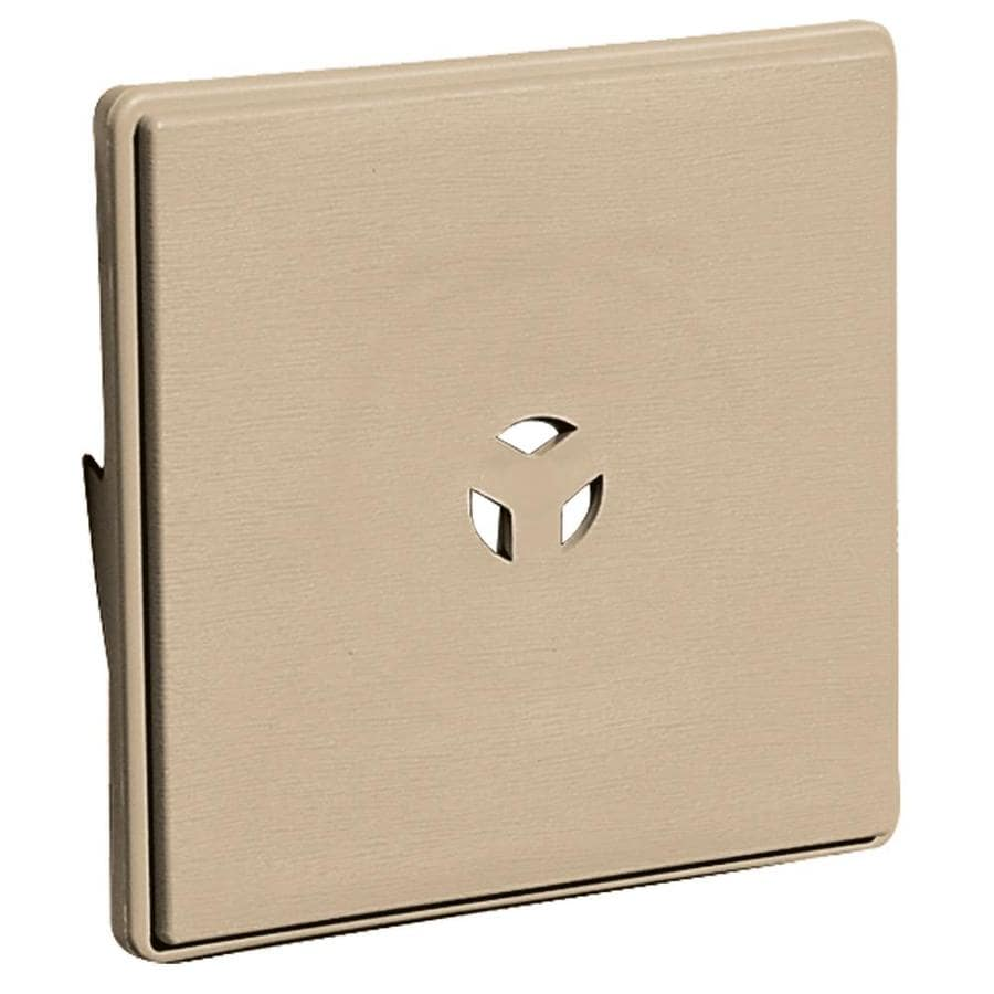 Builders Edge 6.625-in x 6.625-in Tan Vinyl Universal Mounting Block
