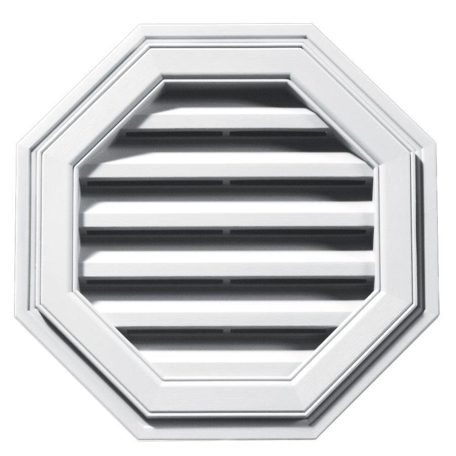 Builders Edge 18-in x 18-in White Octagon Vinyl Gable Vent