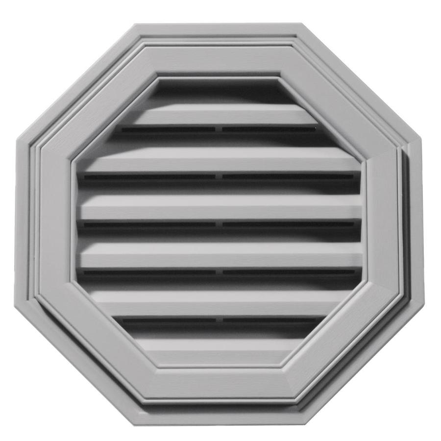 Builders Edge 18-in x 18-in Gray Octagon Vinyl Gable Vent