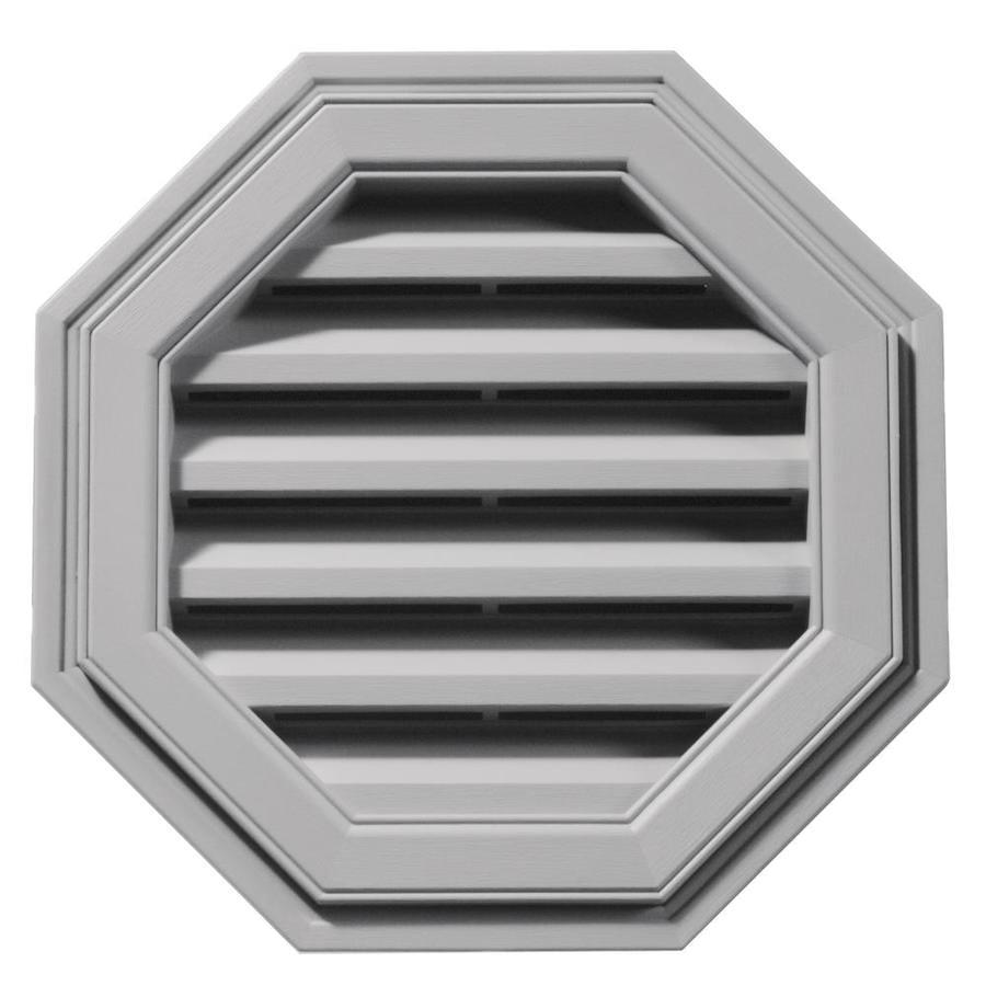 Builders Edge 6-in x 5-in Gray Octagon Vinyl Gable Vent
