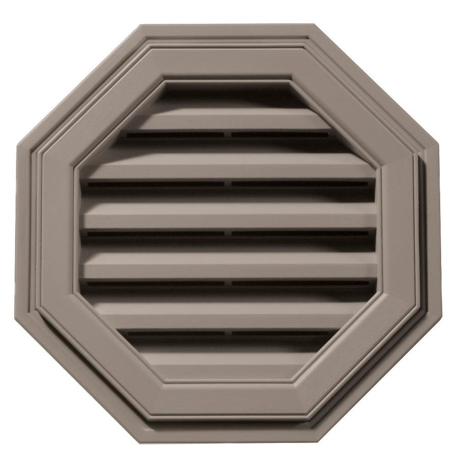 Builders Edge 18-in x 18-in Clay Octagon Vinyl Gable Vent
