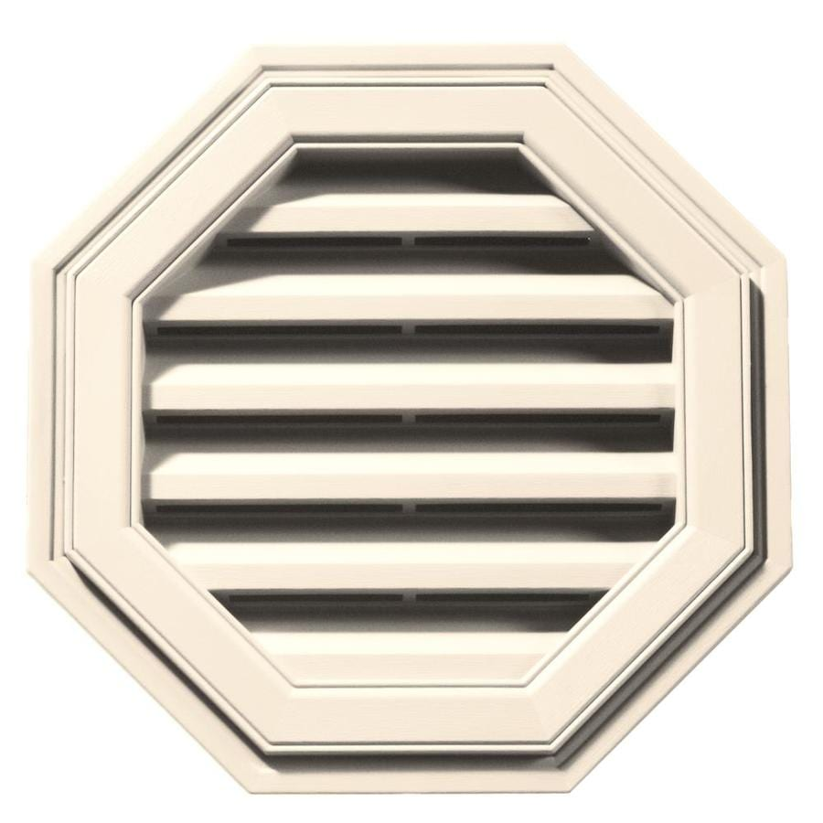 Builders Edge 18-in x 18-in Sandstone Beige Octagon Vinyl Gable Vent