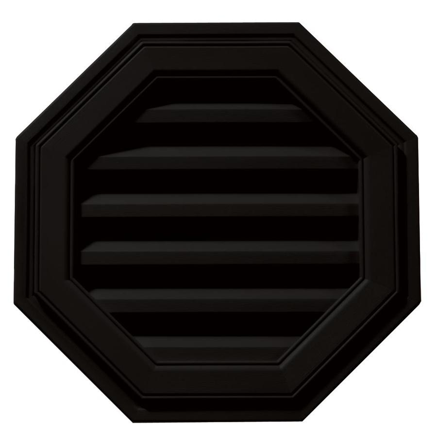 Builders Edge 18-in x 18-in Black Octagon Vinyl Gable Vent
