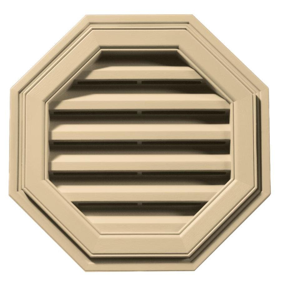 Builders Edge 18-in x 18-in Dark Almond Octagon Vinyl Gable Vent
